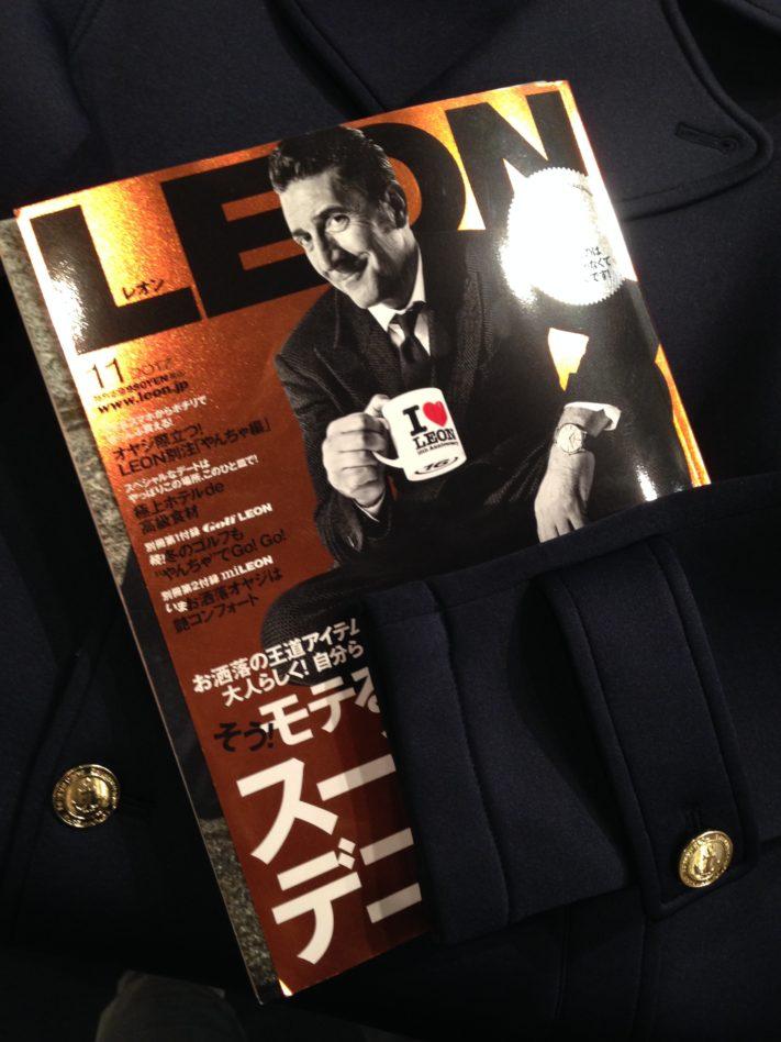 """雑誌""""LEON""""11月号掲載のPコート"""