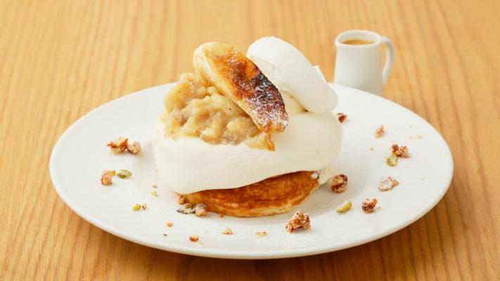 【あと5日!】バナナコンフィチュールとリコッタクリームのパンケーキ