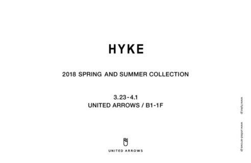 HYKE 2018春夏コレクション販売会