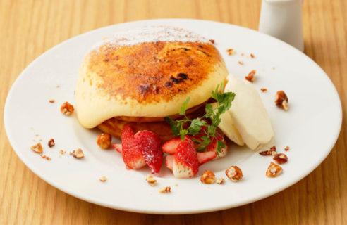【4月限定】ストロベリーブリュレパンケーキ