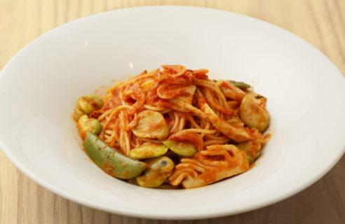 【5月限定ディナーパスタ】桜海老と春野菜のトマトソースパスタ