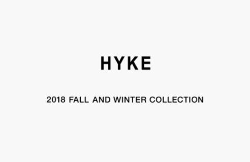 HYKE 2018 FALL AND WINTER COLLECTION