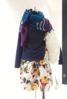 IKUKO ジャガード花柄プリント ★ ワンピース ・ スカート