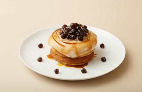 <パンケーキ祭り> タピオカミルクティーのパンケーキ濃厚紅茶ソース