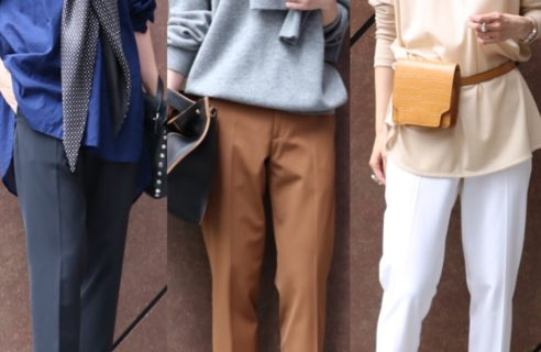 さり気ないオシャレ感が魅力!裾がポイントの「ステップヘムパンツ」