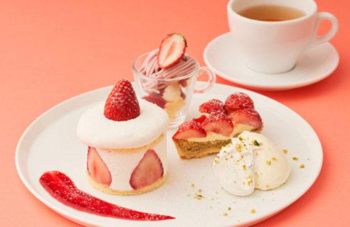 【1/8-3/31】シュークリームと苺パンケーキのハイブリッド感が新しい!苺づくしの「ストロベリーデザートフェア」がスタート