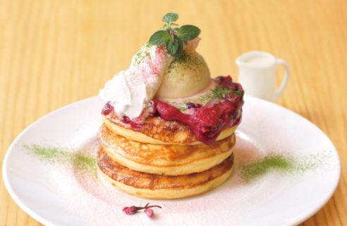 【4月限定】グリオットチェリーの桜バターパンケーキ