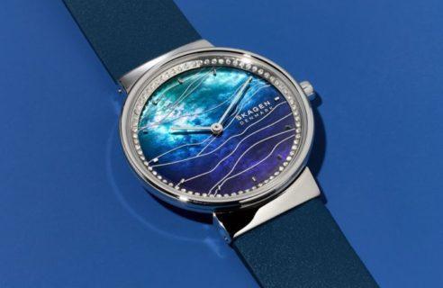 ANNELIE 海辺の波模様から着想を得たブルーグラデーション