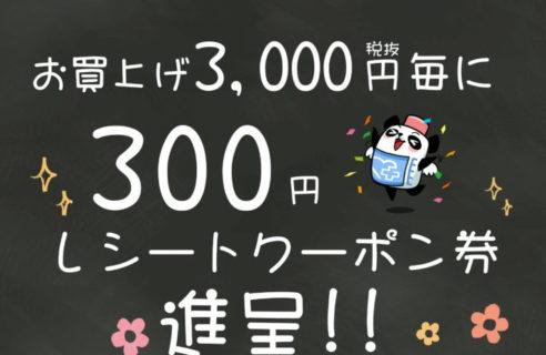 【8/25・26・27限定】300円クーポン企画
