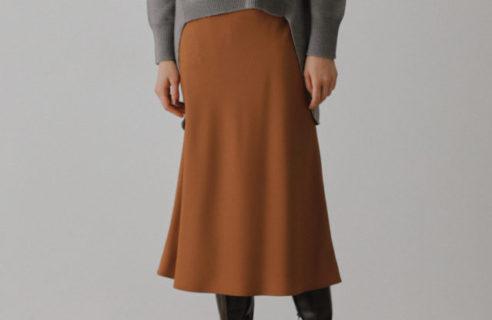 絶妙なシルエットのスカート