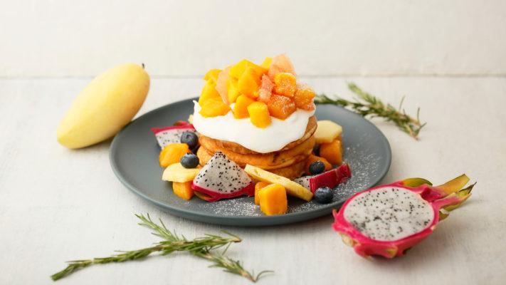 【告知】マンゴーとトロピカルフルーツのリコッタクリームパンケーキ