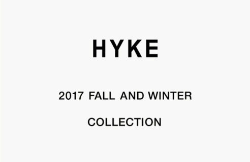 HYKE 2017 FALL AND WINTER COLLECTION
