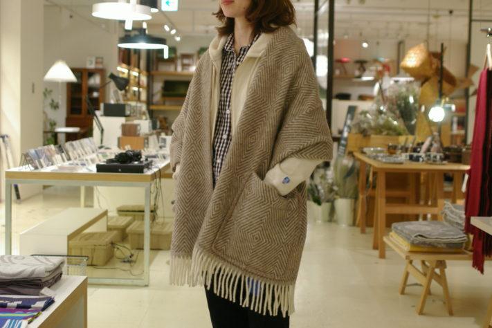 上質なウール素材で織られているLAPUAN KANKURIT(ラプアンカンクリ)のPocket shawl