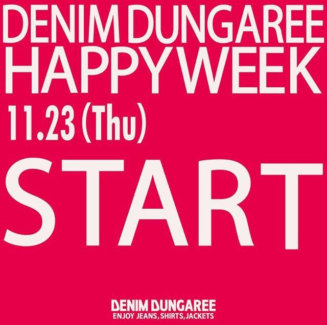 ★DENIM DUNGAREE HAPPY WEEK + Wスタンプ FAIR★