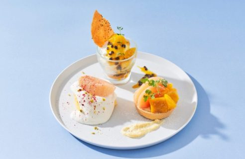 【まるごとフルーツフェア】桃とマンゴーの贅沢デザートプレート
