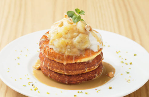【9月限定!】バナナコンフィチュールとリコッタクリームのパンケーキ