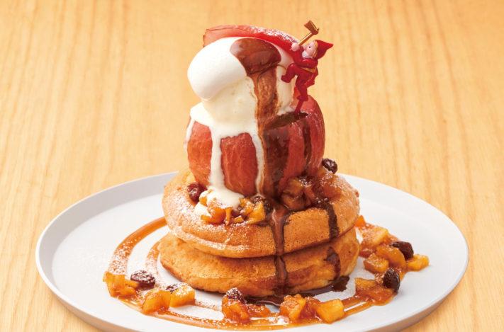 【12月限定!】まるごとリンゴのパンケーキ ホットチョコレートソース