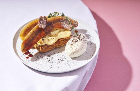 【春のデザートフェア】まるごと焼きバナナのカスタードチョコパイ
