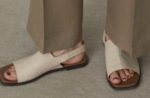 Square toe covered sandal