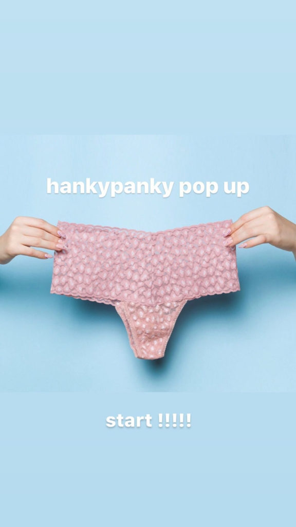 【hankypanky pop up】