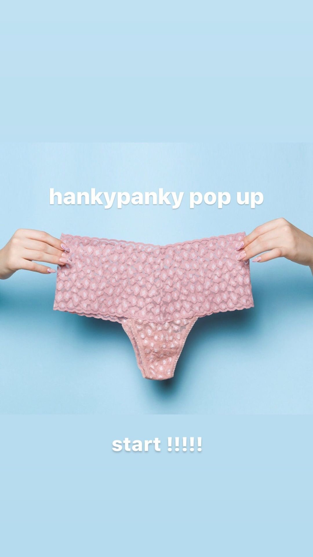 【hankypanky pop up】