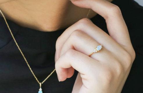 オパール(オーストラリア産)×ダイヤモンド