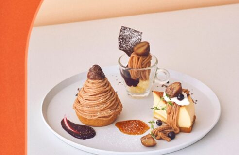 【モンブランフェア】モンブラン食べ比べプレート 3種のカシスソース